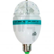 LB-800 Лампа светодиодная ,3LED(3W) 230V E27 RGB 25447