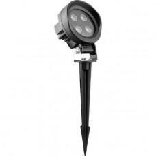 SP4118 Тротуарный светодиодный светильник на колышке ЛЮКС, 6LED 600Ma 12W RGB D105*61*H133мм IP65 32038