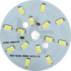 LB-1762, светодиодный модуль на алюм.плате, 5W 10LED SMD5730 275Lm 6400K D50mm 27988