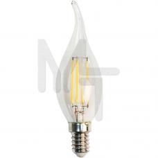 Лампа светодиодная LB-59 4LED(5W) 230V E14 4000K филамент свеча на ветру 25576