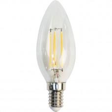 Лампа светодиодная LB-68 4LED(5W) 230V E14 2700K филамент свеча диммируемая 25651