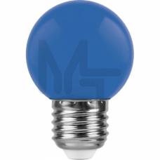 Лампа светодиодная LB-37 5LED(1W) 230V E27 синий 70*45mm шарик 25118