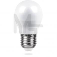 Лампа светодиодная LB-38 G45 230V 5W 420Lm E27 4000K 25405