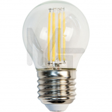 Лампа светодиодная LB-61 4LED(5W) 230V E27 2700K филамент G45 25581