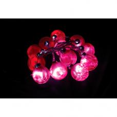 CL52 гирлянда 1,7м 24V 12 LED шары цвет стекла: красный, 1W, 42mA, с 24V-адаптером, IP 20 26760