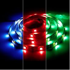 LS607/LED-RL 30SMD(5050)/m 7.2W/m 12V 5m*10*0.22mm RGB на белом основании IP65 27649