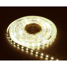 LS606/LED-RL 60SMD(5050)/m 14,4W/m 12V 5m*8*0.22mm  теплый белый  на белом (блистер) 27646
