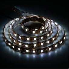 LS607/LED-RL 60SMD(5050)/m 14,4W/m 12V 5m*10*0.22mm белый теп. на беломIP65 27654