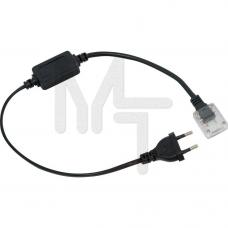 LD177 Сетевой шнур с соединителем 0.5m*05m, для 5050/3528, 220V ,белий 23078