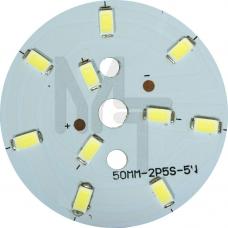 LB-1763, светодиодный модуль на алюм.плате, 7W 10LED SMD5730 275Lm 6400K D50mm 27989