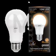 Лампа светодиодная Gauss LED A60 10W 2700K E27 Globe 102502110