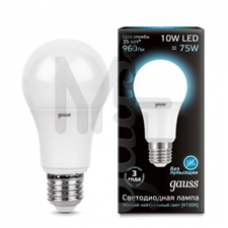 Лампа светодиодная Gauss LED A60 10W 4100K E27 Globe 102502210