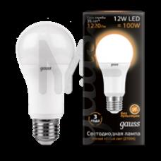 Лампа светодиодная Gauss LED A60 12W 2700K E27 Globe 102502112