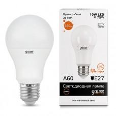 Лампа светодиодная Gauss LED Elementary A60 10W 2700K E27 23210