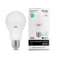 Лампа светодиодная Gauss LED Elementary A60 10W 4100K E27 23220
