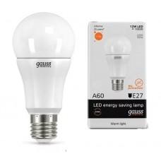Лампа светодиодная Gauss LED Elementary A60 12W 2700K E27 Globe 23212