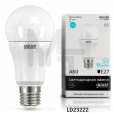 Лампа светодиодная Gauss LED Elementary A60 12W 4100K E27 Globe 23222