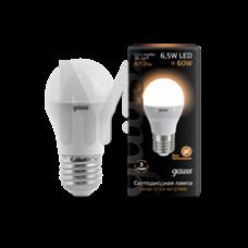 Лампа светодиодная Gauss LED Globe 6,5W E27 2700K 105102107