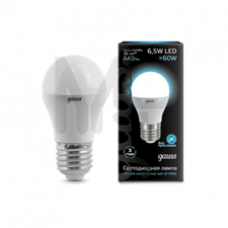 Лампа светодиодная Gauss LED Globe 6,5W E27 4100K 105102207