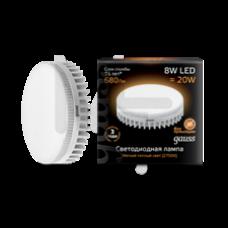 Лампа светодиодная Gauss LED GX53 8W 2700K 1/10/50 108008108