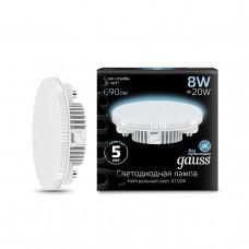 Лампа светодиодная Gauss LED GX53 8W 4100K 1/10/50 108008208