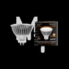 Лампа светодиодная Gauss LED MR16 5W SMD 2700K GU5.3 FROST 1/10/100 101505105
