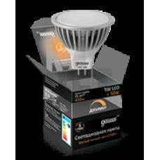 Лампа светодиодная Gauss LED MR16 5W SMD 2700K GU5.3 диммируемая 101505105-D