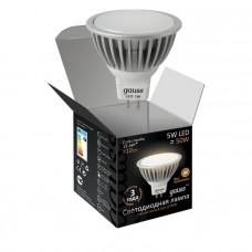 Лампа светодиодная Gauss LED MR16 5W SMD 4100K GU5.3 FROST 1/10/100 101505205