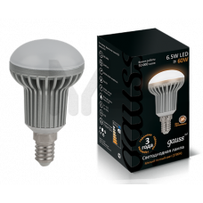 Лампа Gauss LED R50 6.5W 2700K E14 FROST 1/10/100 EB106101107