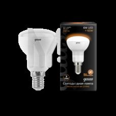 Лампа Gauss LED R50 E14 6W 500lm 3000K 1/10/100 106001106