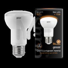 Лампа Gauss LED R63 E27 9W 660lm 3000K 1/10/50 106002109