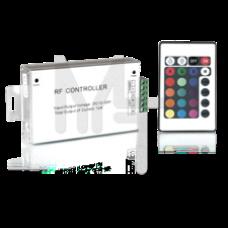 Контроллер для светодиодной ленты RGB 144W 12А  пульт упр. цв.  24 кнопки PC201111025