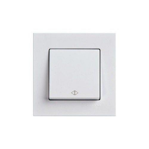 Eqona 4011107 Выкл. 1-клав. проходной бел. 01 40 11 00 100 107