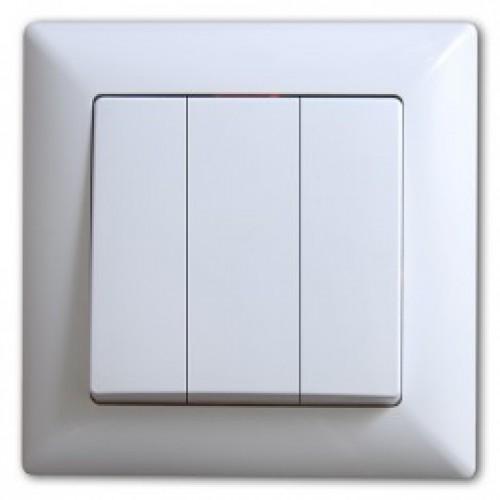 Eqona 4011160 Выкл. 3-клав. белый 01 40 11 00 100 160