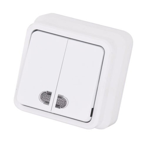 Misya 0511104 Выкл. 2-клав. с подсветкой белый 01 05 11 00 100 104