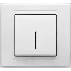 MD2911102 Выкл. 1-клав. с подсветкой бел. 01 29 11 00 100 102