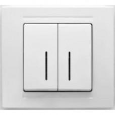 MD2911104 Выкл. 2-клав.с подсветкой бел. 01 29 11 00 100 104