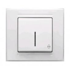 MD2911108 Выкл. 1-клав. проходной с подсветкой белый 01 29 11 00 100 108