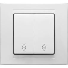 MD2911109 Выкл. 2-клав. проходной белый 01 29 11 00 100 109