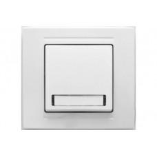 MD2911112 Кнопка звонка с табличкой и подсветкой бел. 01 29 11 00 100 112