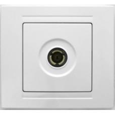 MD2911122 ТВ розетка проходная бел. 01 29 11 00 100 122