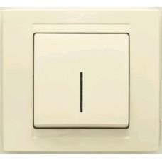 MD2912102 Выкл. 1-клав. с подсветкой крем 01 29 12 00 100 102