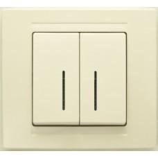 MD2912104 Выкл. 2-клав.с подсветкой крем 01 29 12 00 100 104