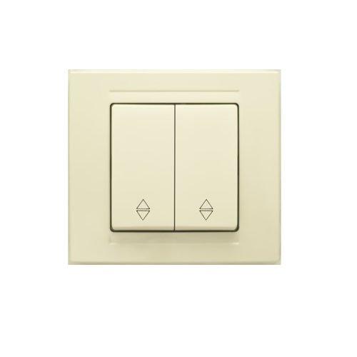 MD 29 12 109  выкл. 2 клав. проходной крем (12шт) 01 29 12 00 100 109