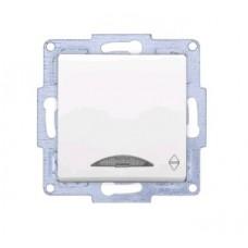 VS2811108 Выкл. 1-клав. проходной с подсветкой бел. 01 28 11 00 100 108
