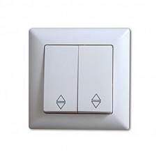 VS2811109 Выкл. 2-клав. проходной бел. 01 28 11 00 100 109