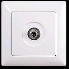 VS2811122 ТВ розетка проходная/конечная бел. 01 28 11 00 100 122