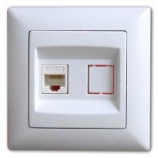 VS2811130 Розетка компьютерная (1ad.cat 5) бел. 01 28 11 00 100 130