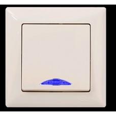 VS2812102 Выкл. 1-клав. с подсветкой крем 01 28 12 00 100 102