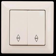 VS2812109 Выкл. 2-клав. проходной крем 01 28 12 00 100 109